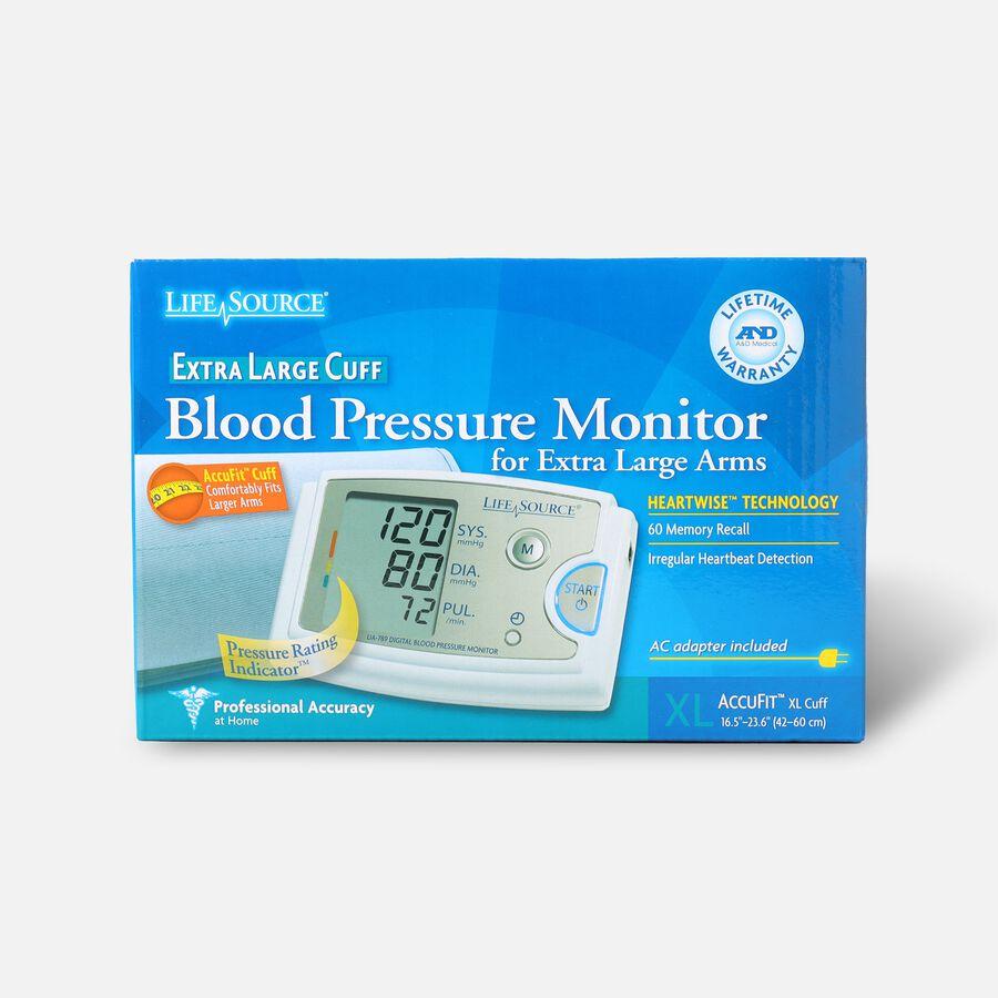 LifeSource UA-789AC Arm Blood Pressure Monitor w/ XL Cuff, , large image number 0