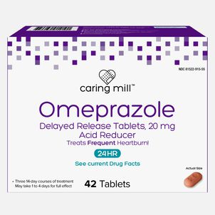 Caring Mill™ Omeprazole Delayed Release Tablets, 42 ct