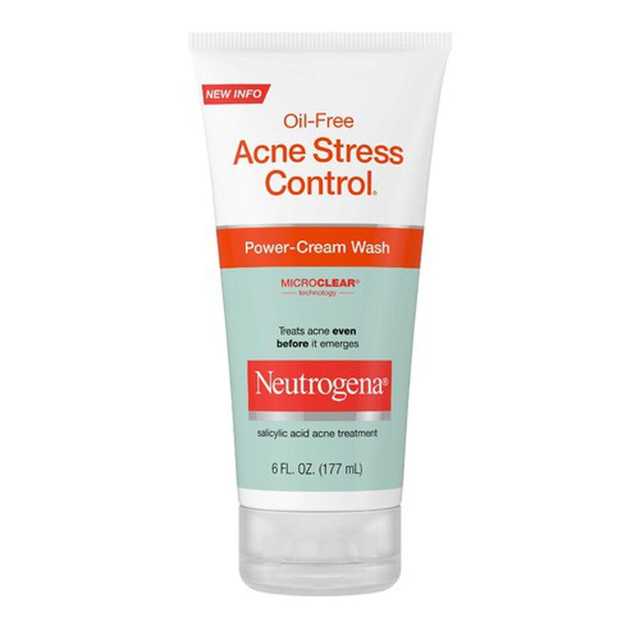 Neutrogena Acne Stress Control Power-Cream Wash, 6oz., , large image number 0