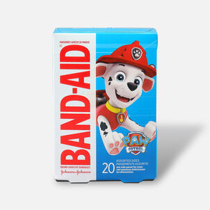 Band-Aid Adhesive Bandages, Nickelodeon Paw Patrol, Assorted Sizes, 20 ct.