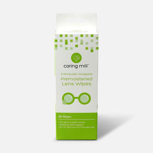Caring Mill™ Pre-Moistened Lens Wipes, 30 count