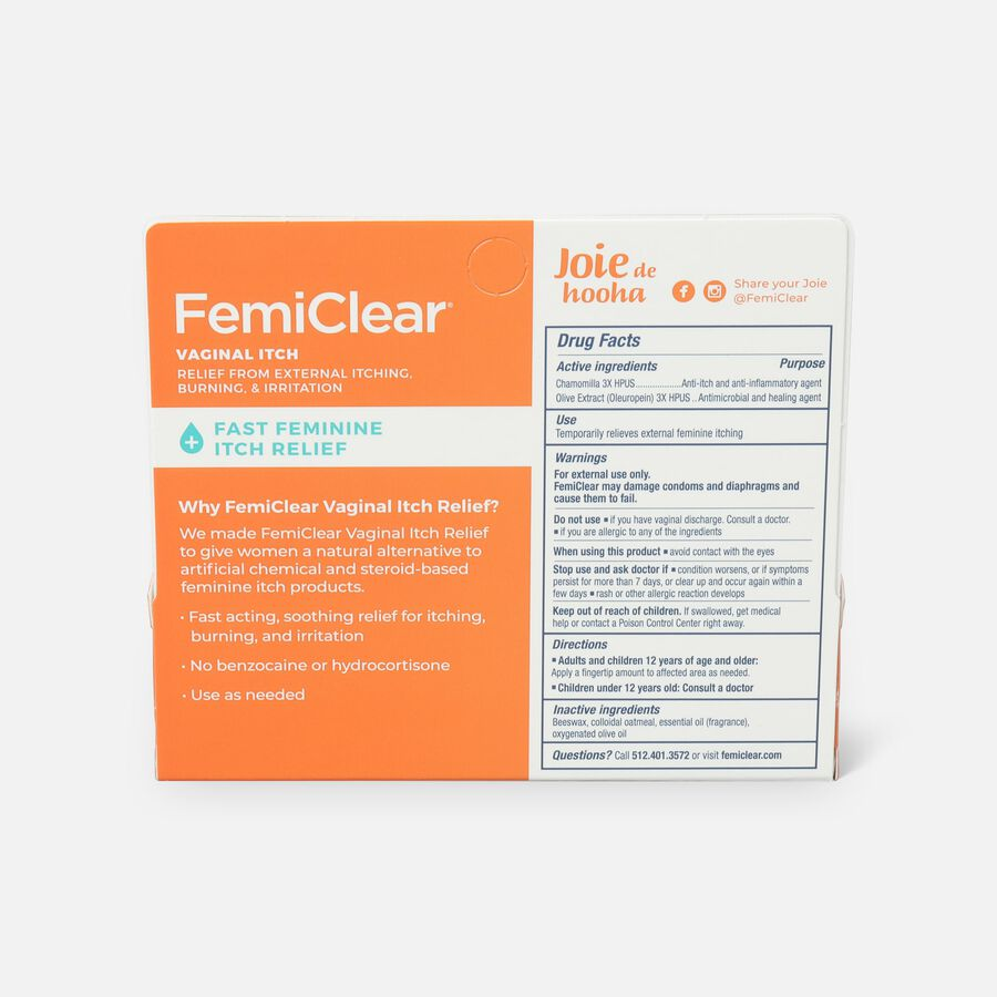 FemiClear Vaginal Itch Relief, 0.5 oz, , large image number 2