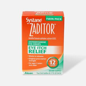 Systane Zaditor Eye Drops, Twin Pack