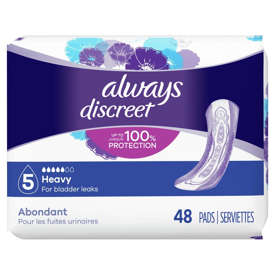 Always Discreet Heavy Incontinence Pads, 48 Count, , large image number 2