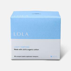 LOLA Tampons, Compact Plastic Applicator, 20ct
