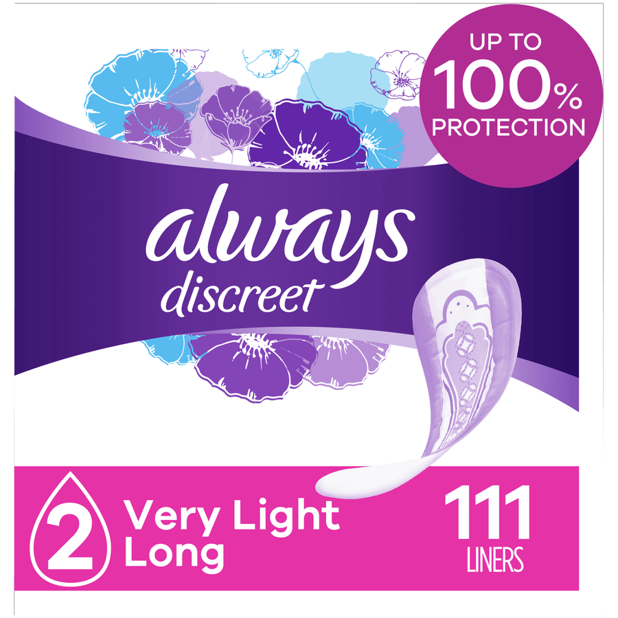 Always Discreet Boutique Incontinence Liners, Very Light Absorbency, Long Length, 111 Count, , large image number 5