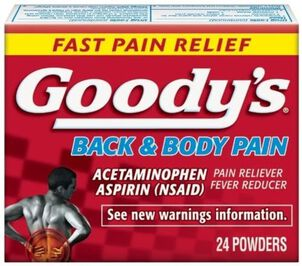 Goody's Back and Body Pain Acetominophen / Aspirin Tablets, 24 ct.