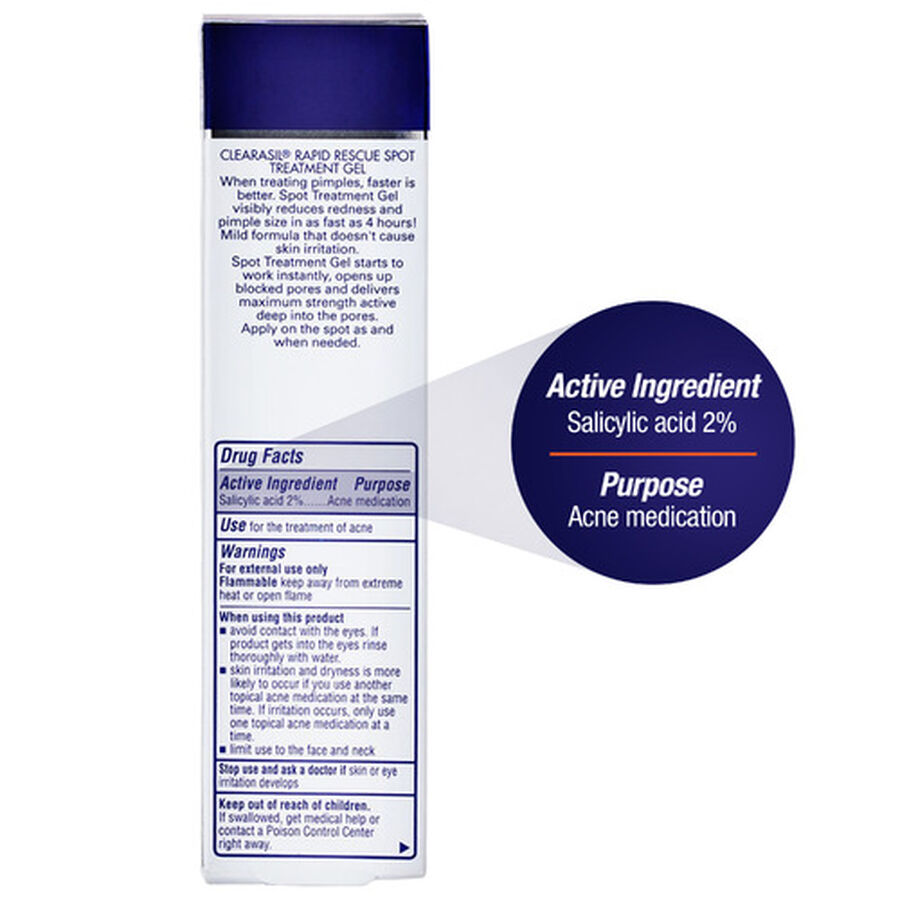 Clearasil Rapid Rescue Acne Spot Treatment Gel, 1oz., , large image number 5