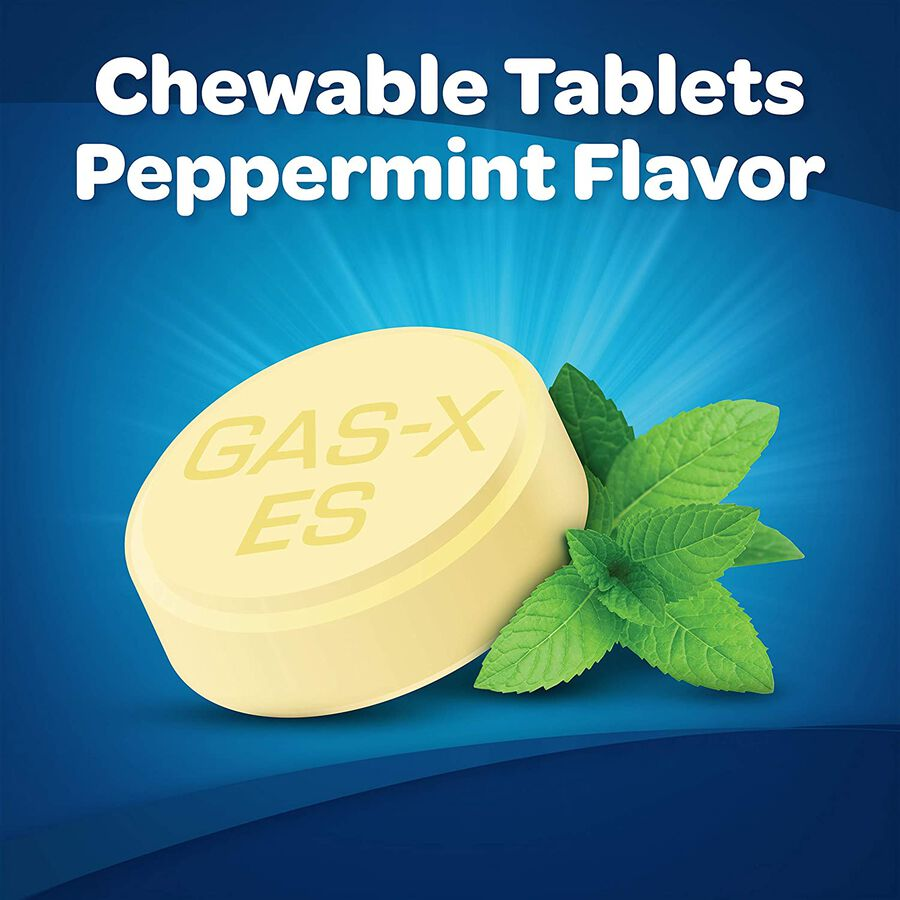 Gas-X Extra Strength Peppermint Chewable Tablet, For Fast Relief From Gas, Bloating & Discomfort, 48 ct, , large image number 1