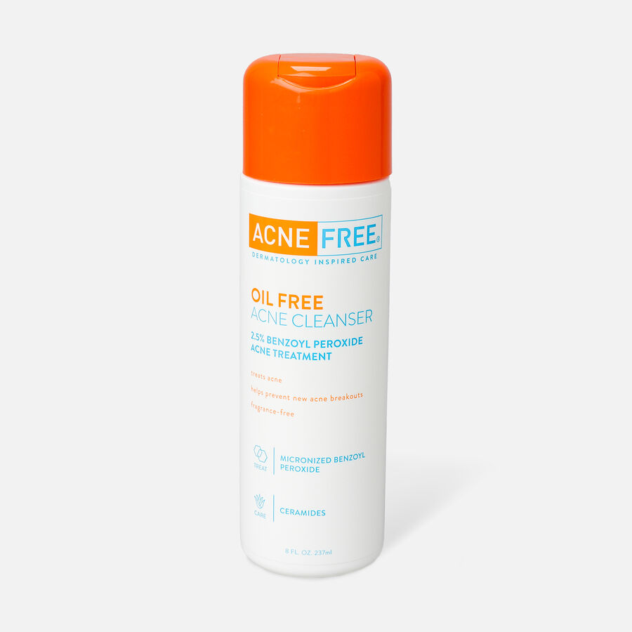 AcneFree Oil Free Facial Cleanser, 8 oz, , large image number 0