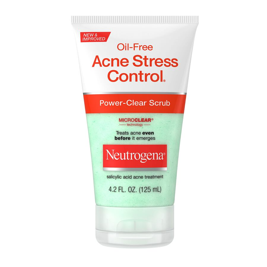 Neutrogena Oil-Free Acne Stress Control Power-Clear Scrub, 4.2 fl oz, , large image number 0