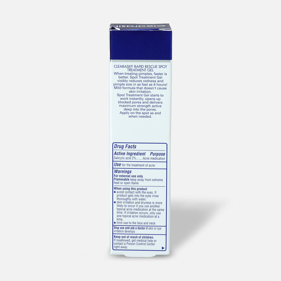 Clearasil Rapid Rescue Acne Spot Treatment Gel, 1oz., , large image number 1