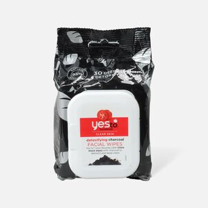 Yes To Tomatoes Charcoal Detoxifying Facial Wipes, 30 ct