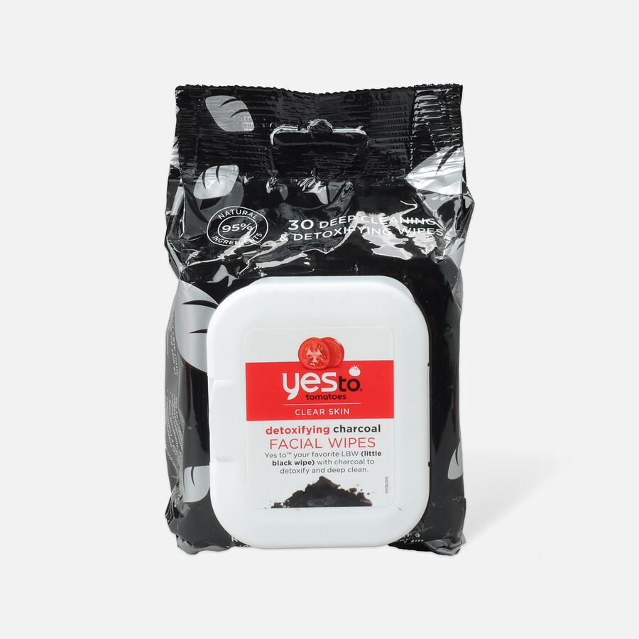 Yes To Tomatoes Charcoal Detoxifying Facial Wipes, 30 ct, , large image number 0