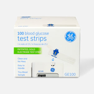 GE100 TEST STRIPS 100 COUNT
