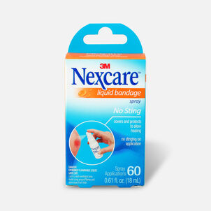 Nexcare No Sting Liquid Bandage Spray, .61 fl oz
