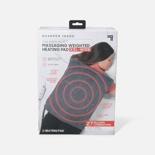 Sharper Image® Calming Heat XXL-Wide Massaging Weighted Heating Pad, 12 Setting, 5lbs