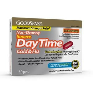 GoodSense® Daytime Cold & Flu Non Drowsy Severe Softgels, 12 ct