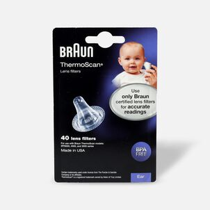 Braun Thermoscan Lens Filters, LF-40, 40 ea